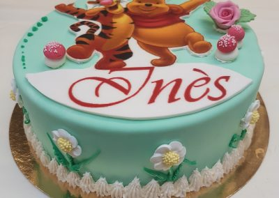 gâteau d'anniversaire pâte d'amande