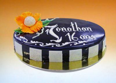 gâteau d'anniversaire duo chocolat